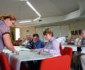 Michelle running Narrabri CBD Masterplan public consultation