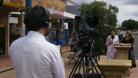 Filming Youtube video for Narrabri CBD Masterplan Consultation